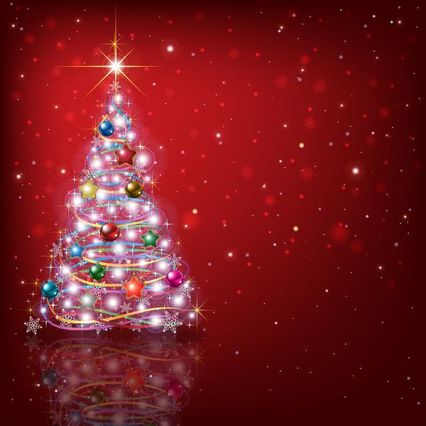 Weihnachten rot Dekoration Baum Abstrakt