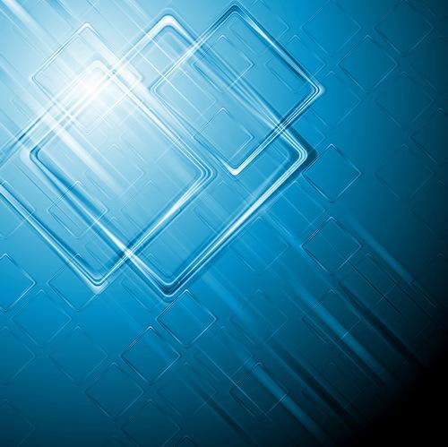 Quadrat blau Abstrakt