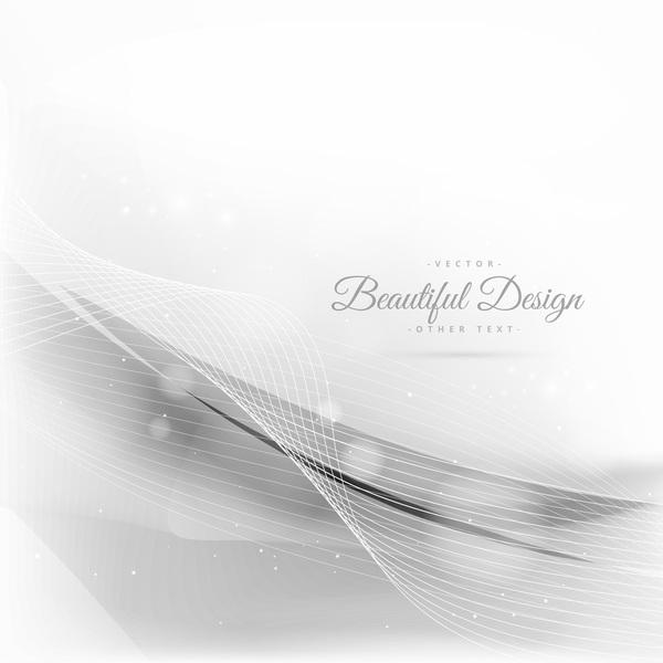 vit vågig linjer Abstrakt