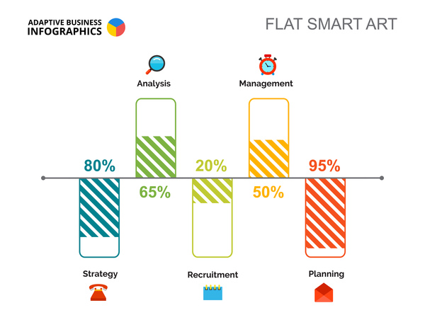 plat infographie business Adaptative