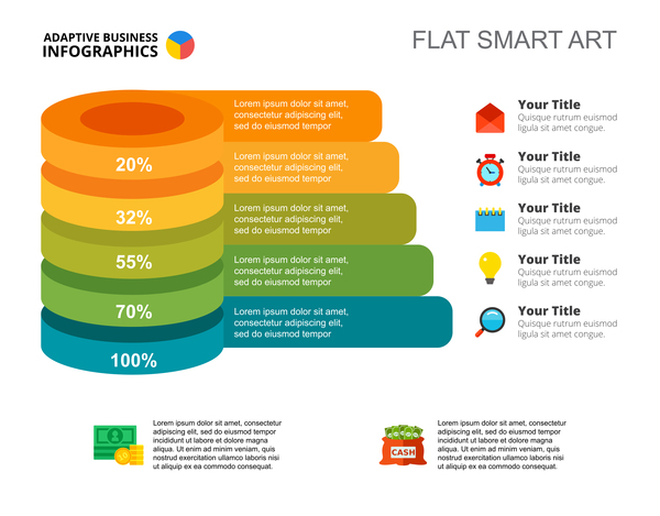 plat infographie business Adaptative