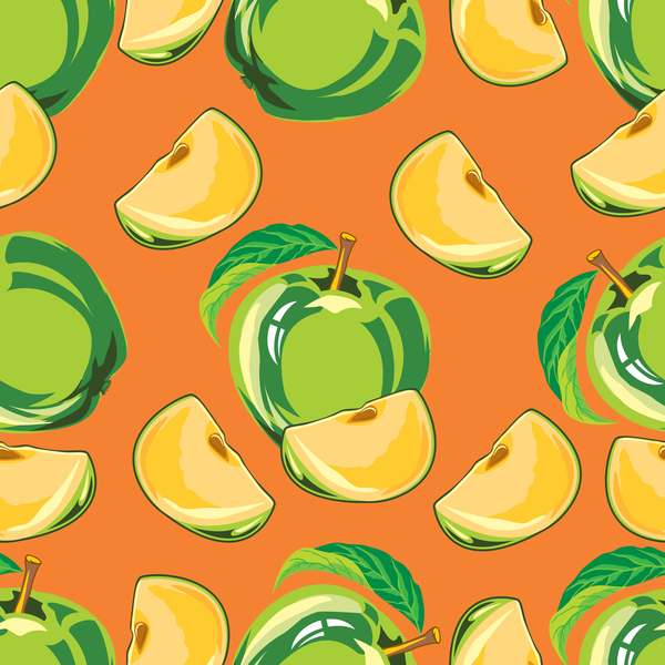 senza soluzione di continuità pattern green apple
