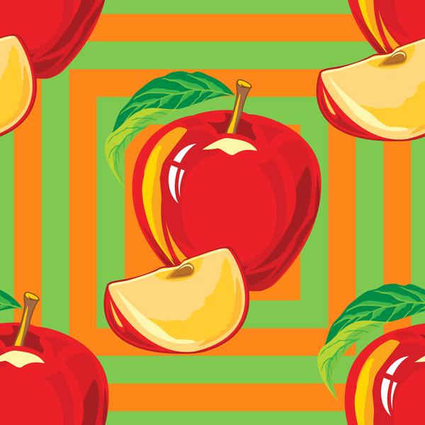 、アップル、パターン、赤、シームレスな