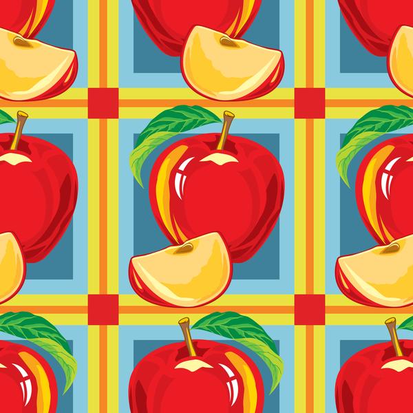 transparent rouge patrón apple