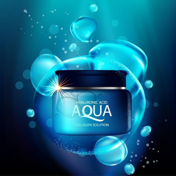 lösning Kollagen blå aqua affisch