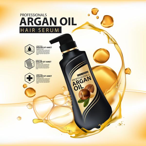 siero poster olio capelli argan