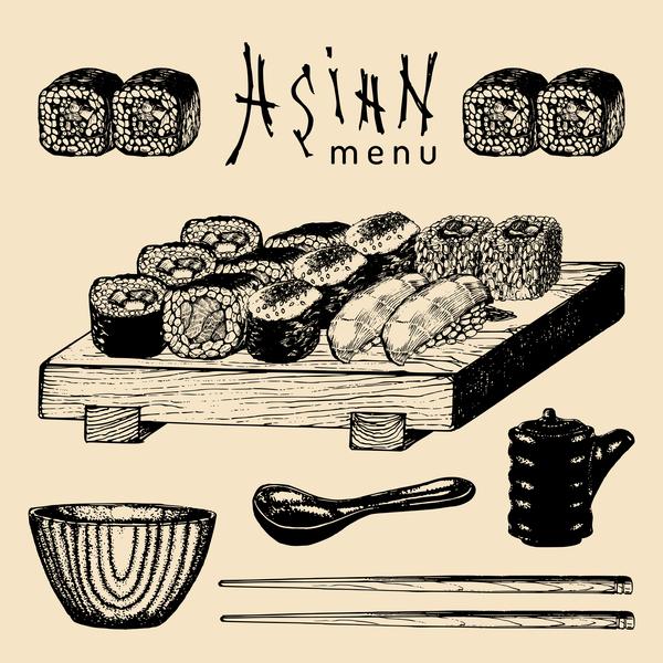 omslag meny Asiatisk