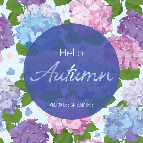 、秋には、カード、花