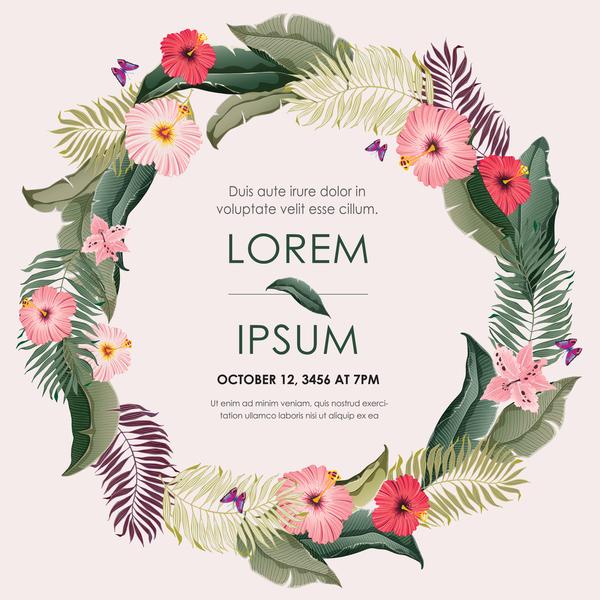 Karten Herbst Einladung Blumen