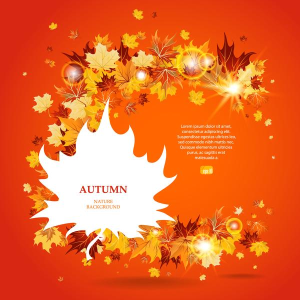 feuilles d'automne Clair Cercles brillant automne