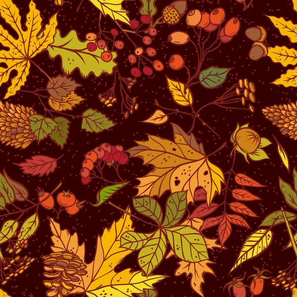 sans soudure modèle l'automne fruits feuilles