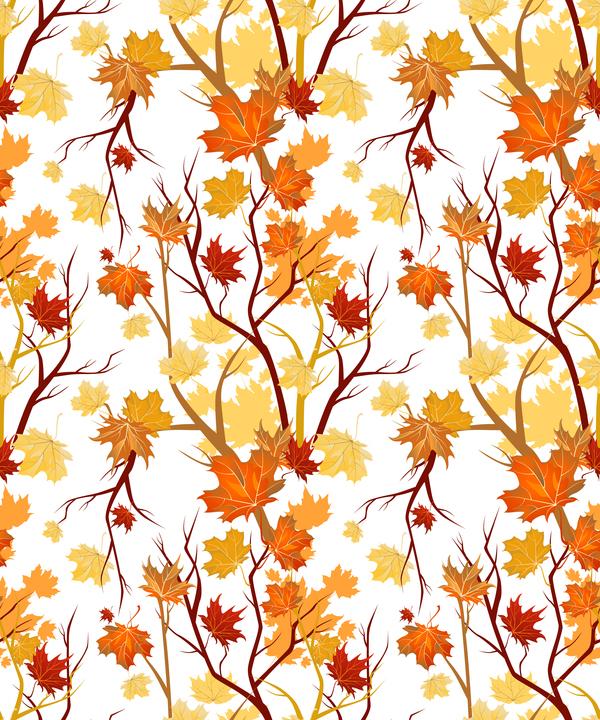 Zweige Struktur Muster Herbst Blätter