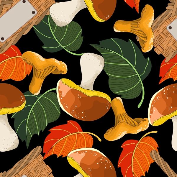 sans couture champignon automne
