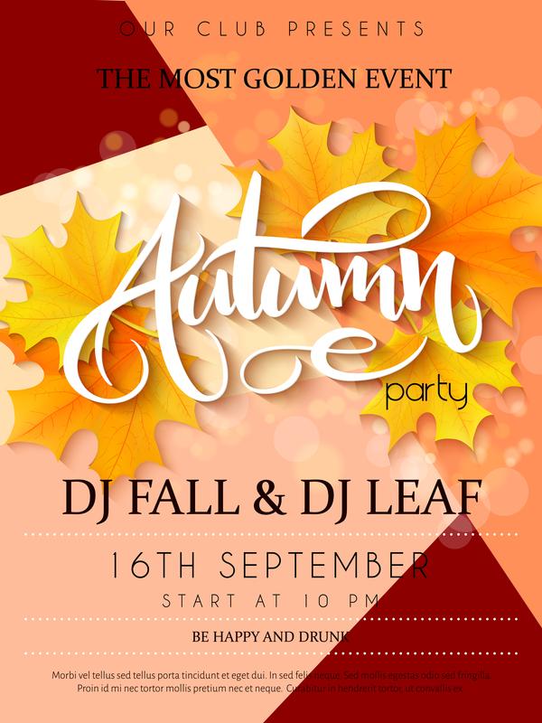 Partito flyer autunno