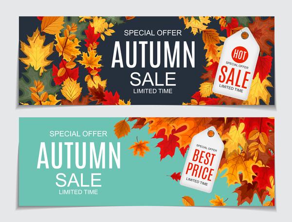 vente tags bannières automne