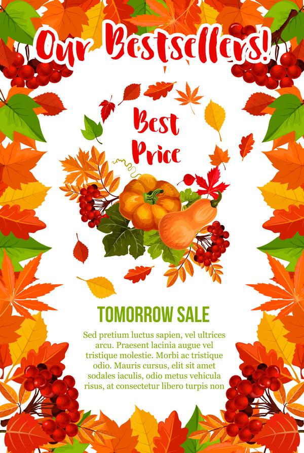 Saison page flyer automne