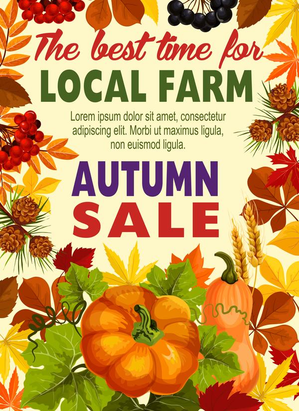 stagione pagina flyer autunno