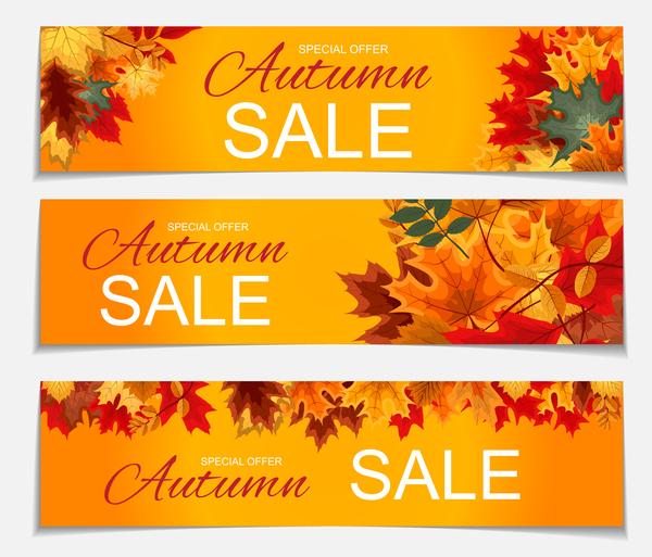 special offrir l'automne des bannières