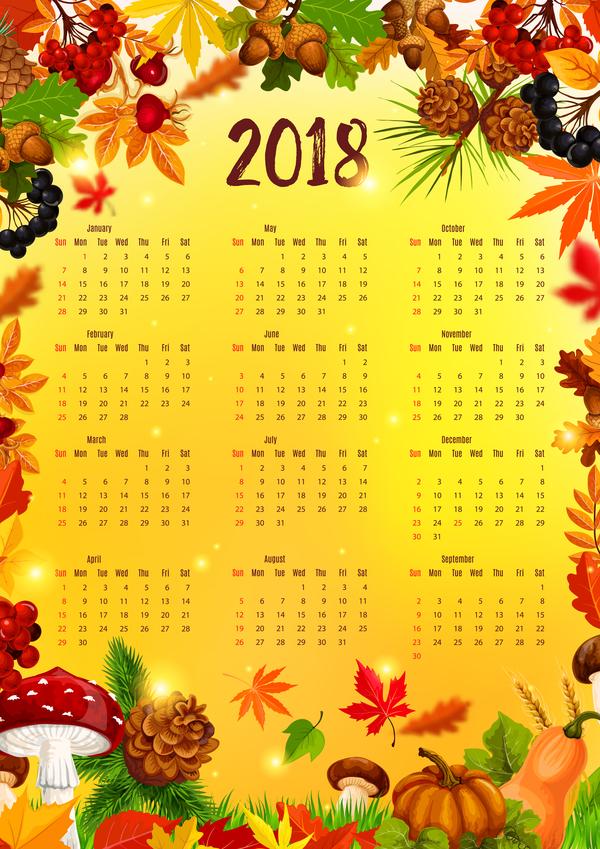 stilar Kalender host 2018