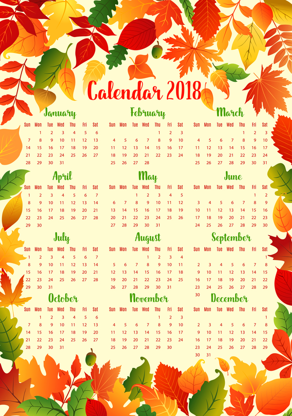 stile Kalender Herbst 2018