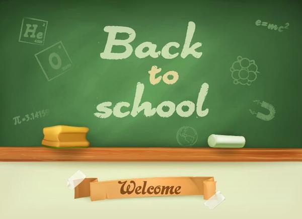 Tillbaka skola green chalkboard