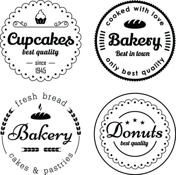 etichette Cerchi bigné bakery