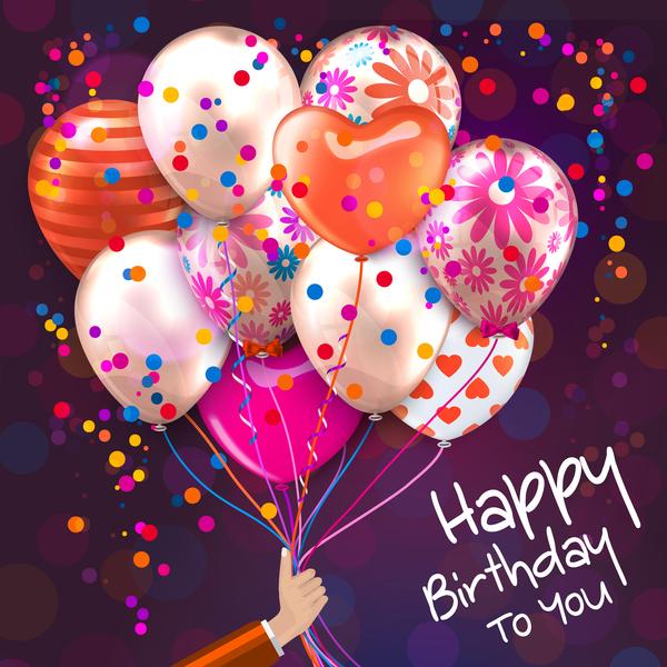 palloncino Compleanno colorato