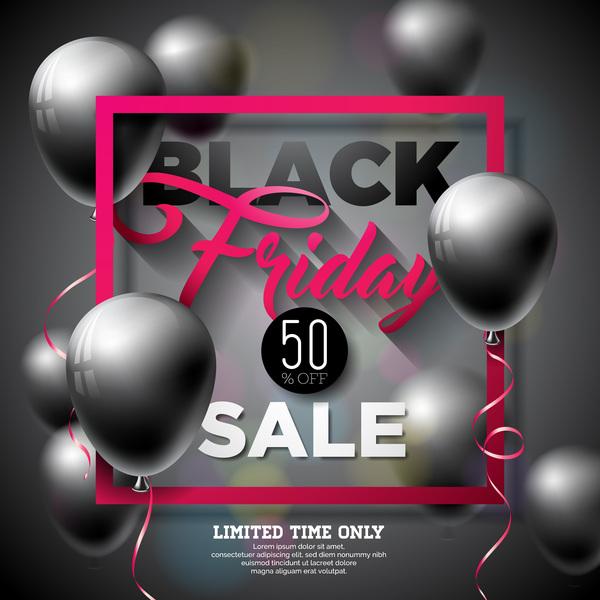 Verkauf Schwarz Luftballons Freitag