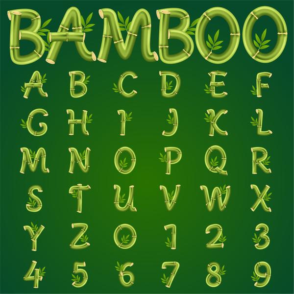 numero bambù Alfabeto