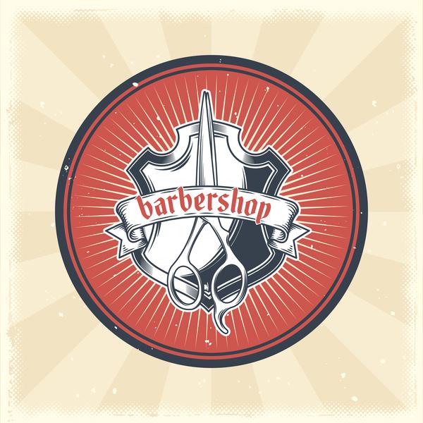 Retro-Schriftart Barbershop Abzeichen