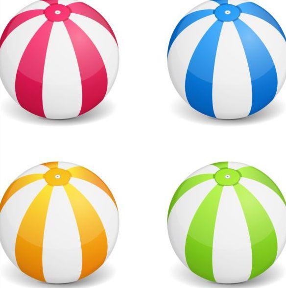 färgade bollar beach