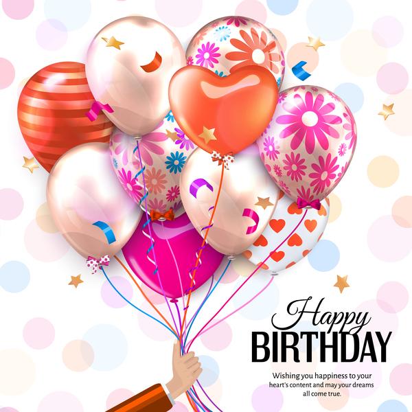 Schön Luftballons Geburtstag