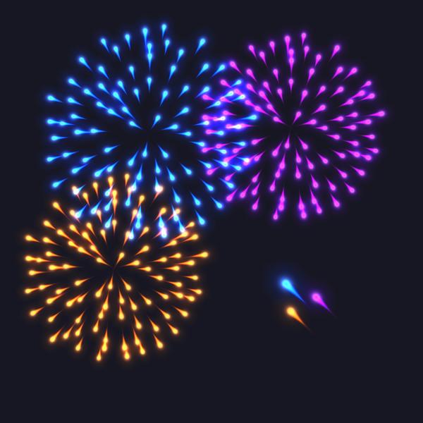 Schön Feuerwerk festival Effekt