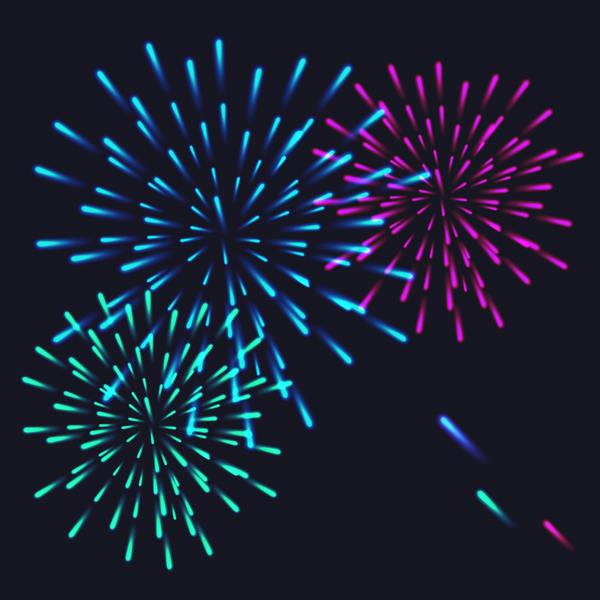feux d'artifice festival effet Belle