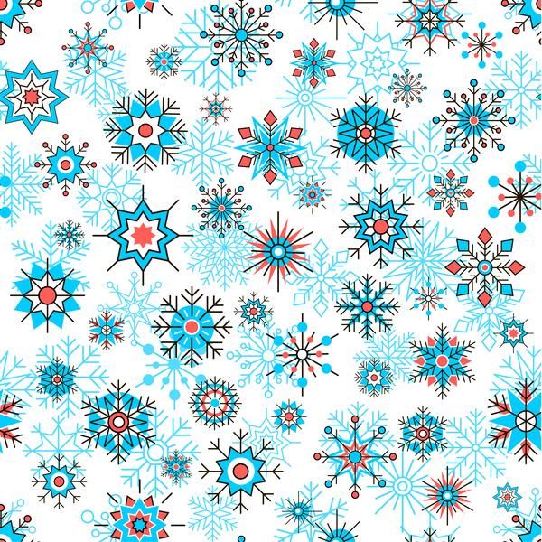 Schneeflocke nahtlose Muster dekorative Beautifule