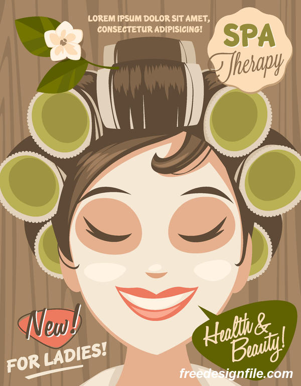 spa skönhet hälsa affisch