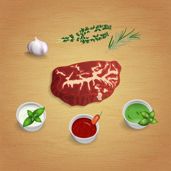 Soßen Gewürze Fleisch