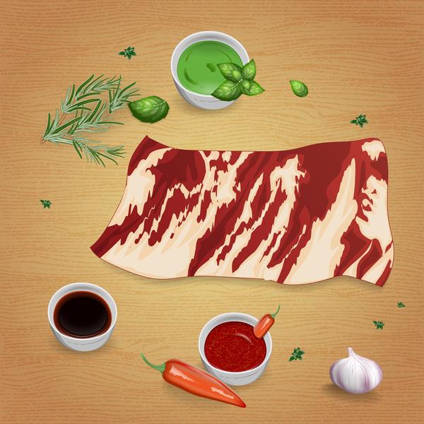 牛肉 ソース スパイス