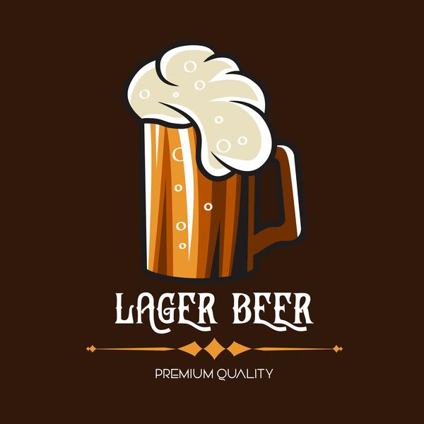 Retro-Schriftart emblem Bier