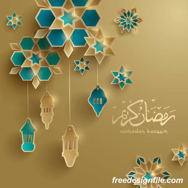 ramadan glantern decor beige