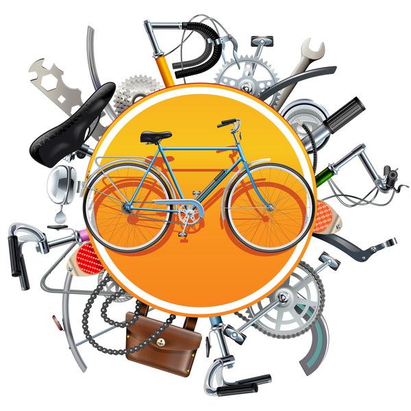 vélo pièces de rechange concept