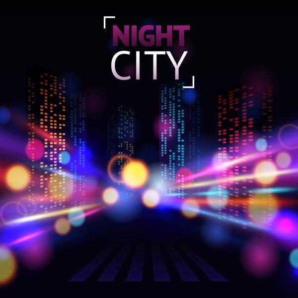 paesaggio notte grande Città