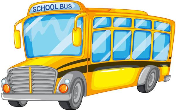 scuola grande cartoon autobus