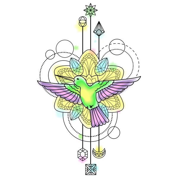 、鳥、装飾的な