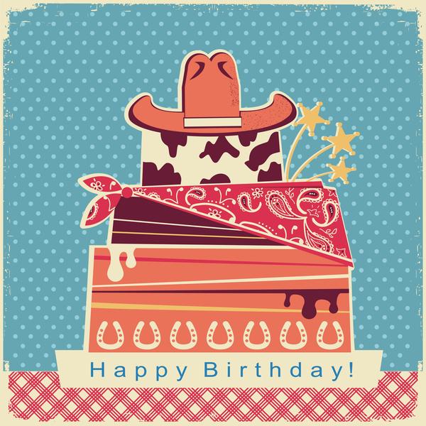 tårta kort hatt Födelsedag Färg