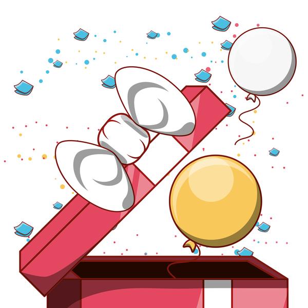 gåva Födelsedag box ballong