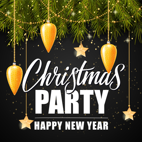 party Nero Natale albero abete