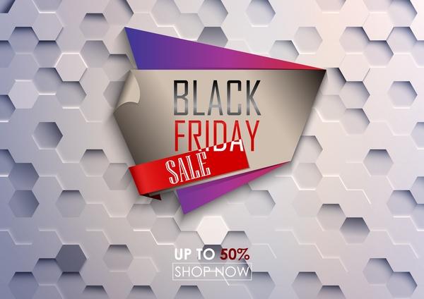 venerdì vendita Nero grande esagono bianco