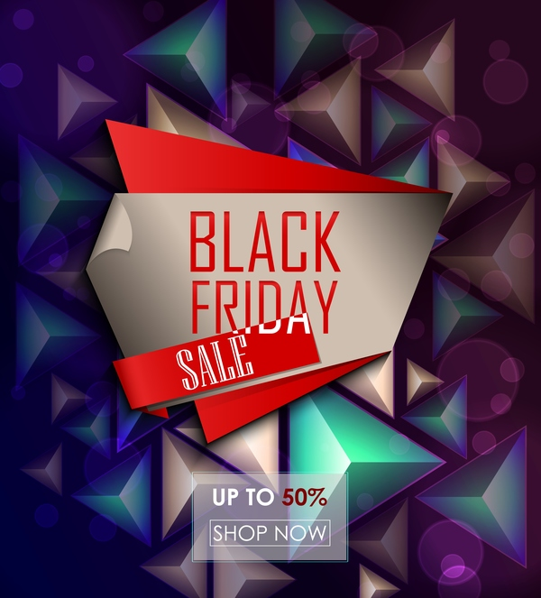 vendredi noir vendredi triangle grande vente 3d
