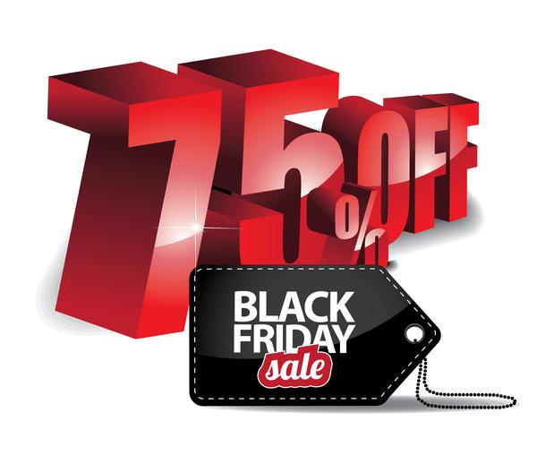 venerdì vendita tag sconto Nero